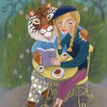 Tiger, Books and Reading, friends, animal friends, and gardens & nature