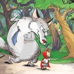 Fairy Tale, big bad wolf, Little Red Riding Hood,  forest, and animal