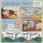 Cute Pigs, handlettering, mushrooms, hunting,  forest, childrens humor, and Animal cartoon illustrations