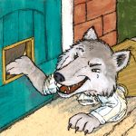 Folktale, bad wolf, and anthropomorphic cat