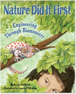 Nature Did It First is a middle grade book that is part poetry, part nonfiction and was written by Karen Ansberry, illustrated by Jennifer DiRubbio