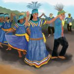 festival, indigenous people, party, cute kids, and dancing