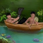 boats, books for boys, boys, Action/Adventure Children's Story, and indigenous people