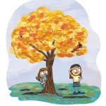 Girls, Hide and Seek, Environment/Nature, Outdoor, and beautiful tree