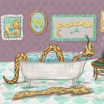 snake, rattlesnake, Cute Animals, bath, record player, funny, and funny animal book
