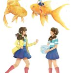 goldfish, Pets, and character design