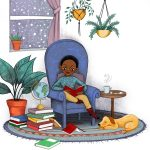 child reading, Books and Reading, little boy, and cozy