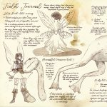 fairies, field journal, and nature