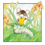 #mouse, caterpillar, and day lily