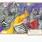 zebras, Dancing animals, water colour, and animal alphabet
