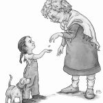 childrens characters, people, black and white illustration, interior illustration, and interior illustrations