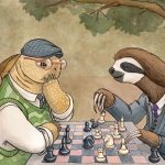 chess, tortoise, and sloth