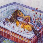 Horses and Ponies, a picture book,  colorful, and   Illustration
