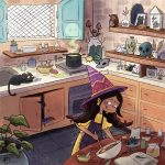 little witch and baking