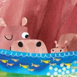 Mother's Day, hippos, summer, and baby and mother