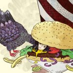 harpy, Friendly Monsters, monster, and hamburger