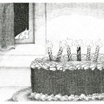birthday cake, insect, and Friendly Monsters
