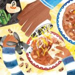 Mexican American, father and son, Latino family, and eating