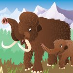 Illustration, woolly mammoths, and #Children's book