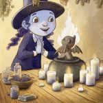 little witch, Animals: cats, Magic, and Children's fantasy