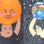 Sun, Earth, universe, Full Moon, Sun and Moon, and patterns