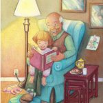 #bedtime story, grandfather, grandfathers, and Granddaughter