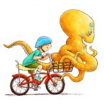 bike ride and octopus