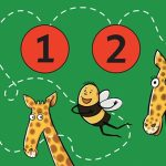 bee, zoo, giraffe,  friends, rhythm, and counting