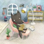 bad wolf, Animal homes, whimsical, cleverness, and Silly characters