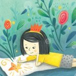 asian girl, Imaginative Journey, Drawing, dreamy, and  flowers