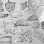 Sketches for cat characters