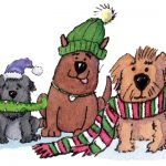 Dogs, Animals, christmas,  cute pets, friendship, friends, and Cute Animals