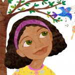 Latina child, Caribean Island, Home, day dreaming, and diversity