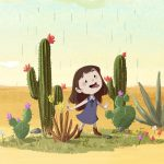 desert, cactus, and a picture book