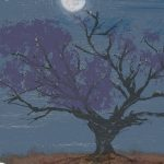 night time, branches, birds, Full Moon, moon, and night sky