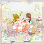 frog, Bugs, picnic, cupcakes, sharing, and party