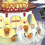 Halloween, Ghosts, Trick or Treat, grocery, Full Moon, and spooky