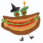 little witch, sandwich, Halloween, grocery, and ghost