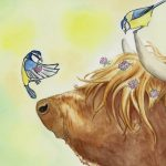 cow, A cow's adventures, fuzzy animal, #Friendship, and Scottish