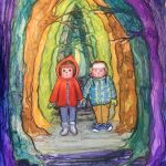 #Children's book, spooky, boy and girl, forest, and lost