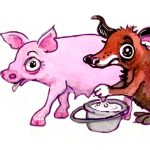 animal characters, silly, gross humor, Cute Pigs, and milk
