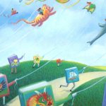 Kite Flying, children's picture books, and field