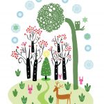 reindeer and  forest