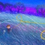kite, Magic, A boy and his dog, field, and At Night