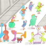 birds, Parades, and musical instruments