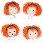 facial expressions and red hair