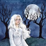 girl and dog, Full Moon, Midnight, greyhound, middle grade, and young adult