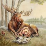 moose, baby bear, and Books and Reading