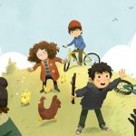 cute kids, countryside, Bikes, chickens, Cousins, and friends