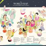 map illustration, map of girl, and Empowerment of women